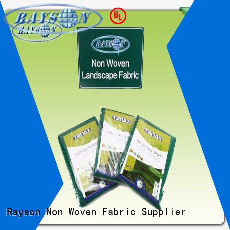 Rayson Non Woven Fabric spun black sheeting for gardens manufacturer for root control bags