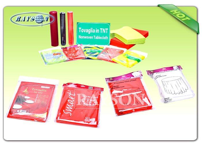 Square / Round 45Gr / 60Gr / 70gR Non Woven Tablecloth In TNT Eco-Friendly / Disposable Table Covers-1