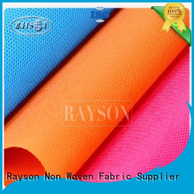 woven vs nonwoven fabric 20g50g perforated weedproof Rayson Non Woven Fabric Brand pp spunbond nonwoven fabric