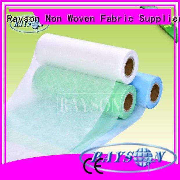 gardening spunlace colored medical non woven fabric Rayson Non Woven Fabric Brand