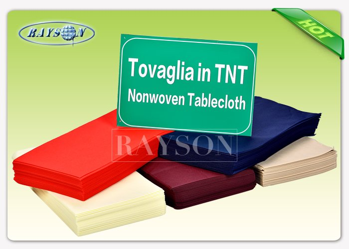 38G / 45G / 50G Polypropylene Spunbond Non woven Table Cover , Nonwoven Products