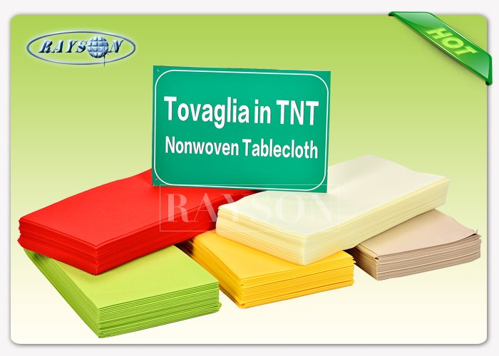 Italian / Spain / French Market Non Woven Disposable Tablecloths Disposal Colorful Useful