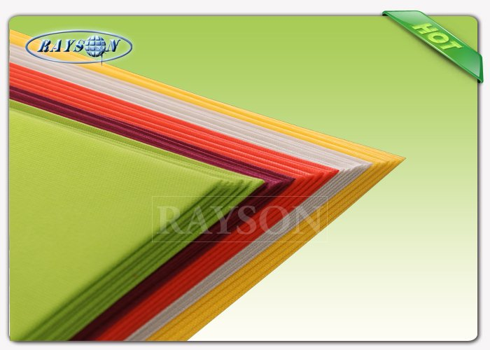 OEM red / yellow / blue spunbond non woven Fabric table cover for wedding / outdoor party