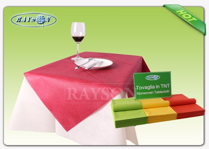 Non woven products , spunbond tnt non woven table cover with fashion logo printing