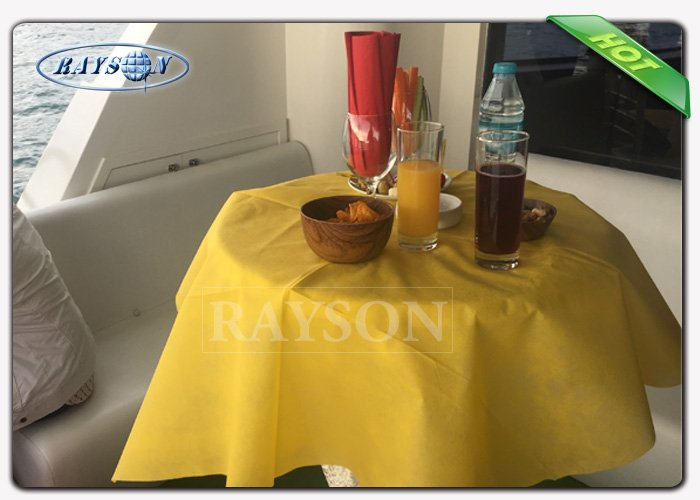 Friendly Party / Dinner Disposable Table Cover , TNT PP Spunbond Nonwoven Fabric