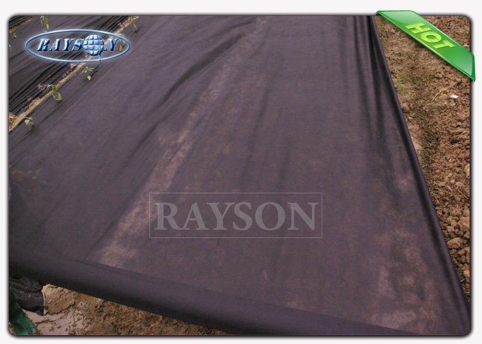 Good strength black spun bonded Garden Weed Control Fabric / ground weed control fabric