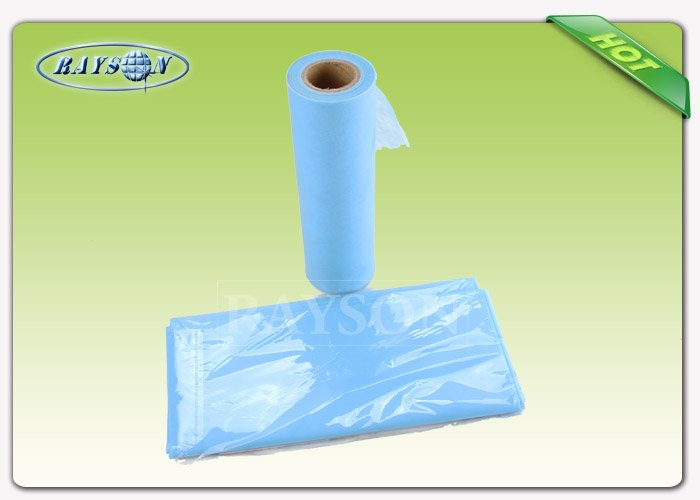 Polypropylene Disposable Bed sheet Roll / Medical Paper Roll Cross Perforated 30 gr For Beauty