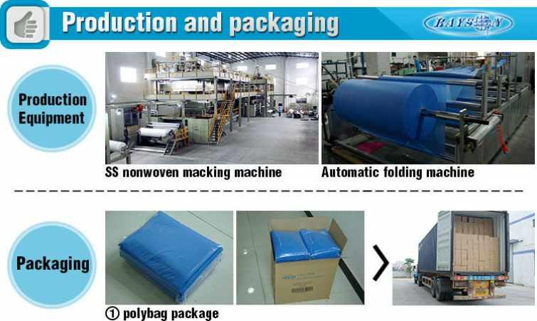 harmless spun label Rayson Non Woven Fabric Brand disposable bed sheets online manufacture