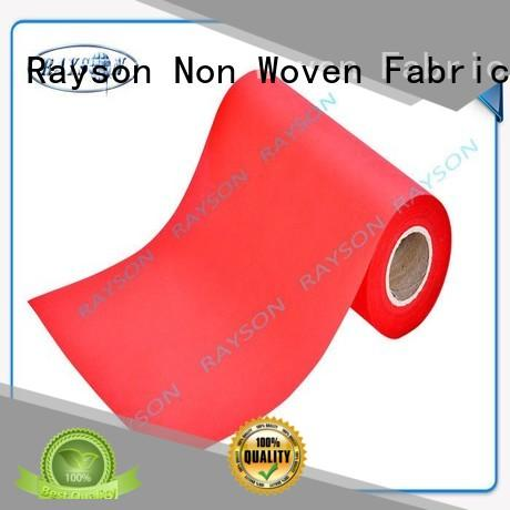 max thickness 38g Rayson Non Woven Fabric Brand pp spunbond nonwoven fabric supplier