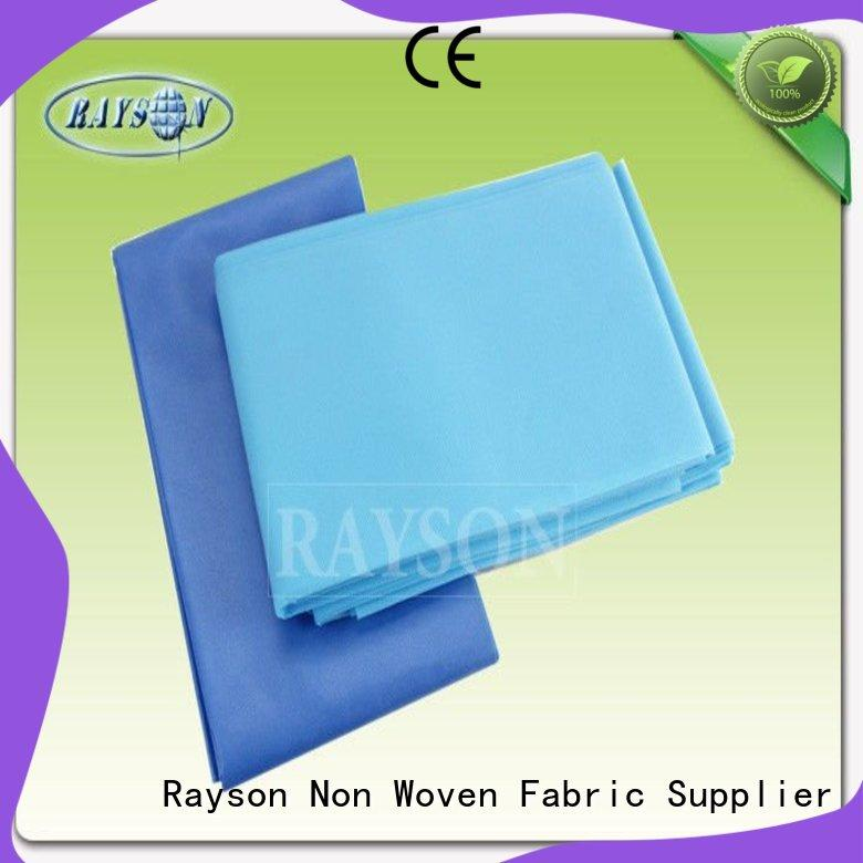 Rayson Non Woven Fabric Wholesale hospital bed sheet size Supply for hospital use