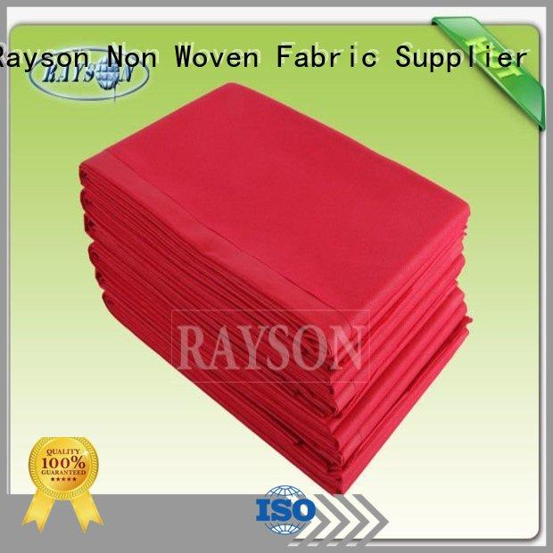 Quality Rayson Non Woven Fabric Brand disposable bed sheets online zipper