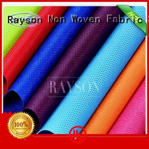 woven vs nonwoven fabric polyester Rayson Non Woven Fabric Brand pp spunbond nonwoven fabric