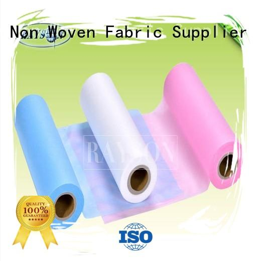 Quality Rayson Non Woven Fabric Brand disposable bed sheets online permeable frost