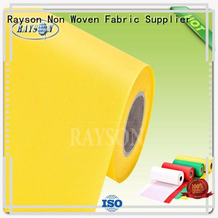 Quality Rayson Non Woven Fabric Brand polybag draw pp spunbond nonwoven fabric
