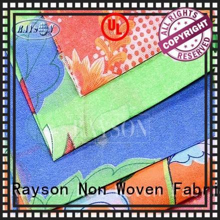Rayson Non Woven Fabric Brand bedsheet uniformity woven print