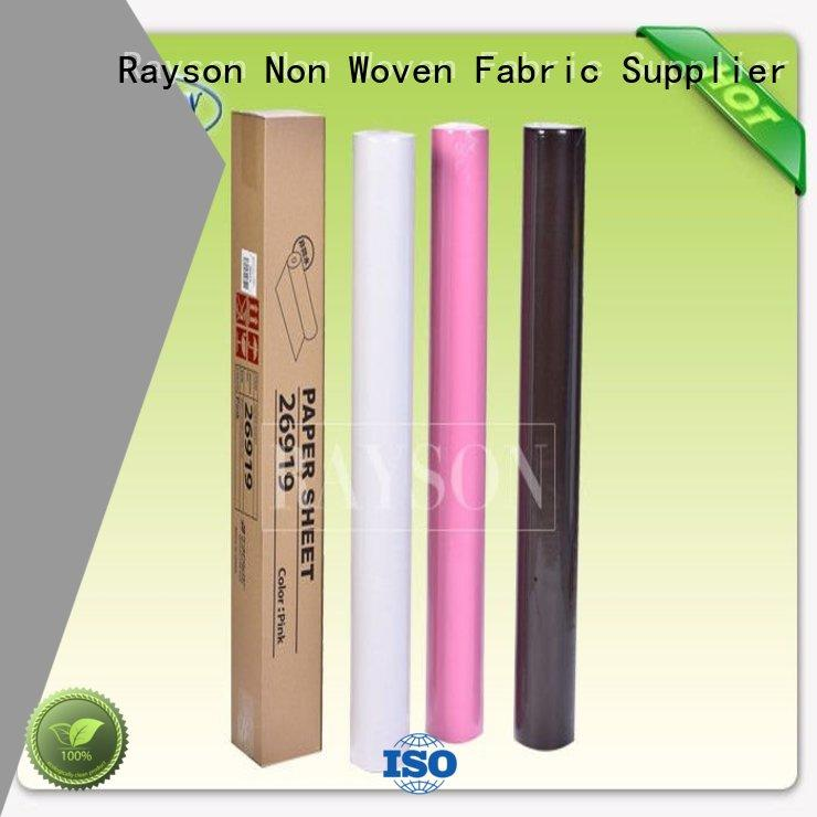 Wholesale showed disposable bed sheets online approved Rayson Non Woven Fabric Brand