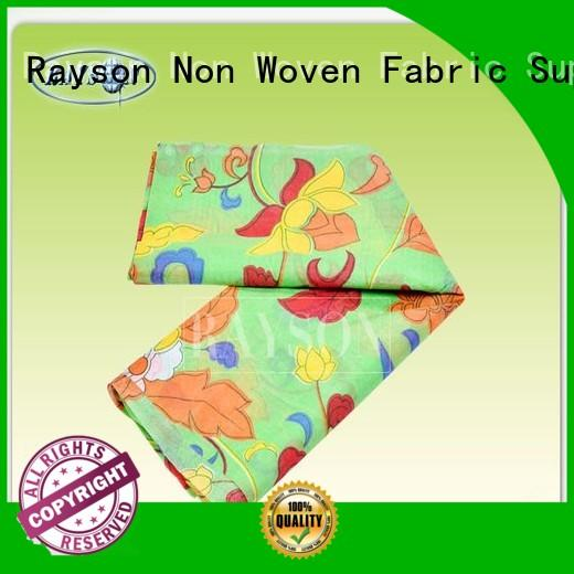 Rayson Non Woven Fabric Brand 75gsm free custom woven print