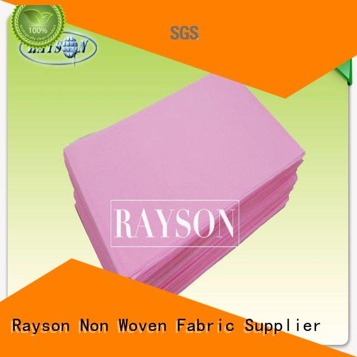 Rayson Non Woven Fabric polypropylene disposable bed pads for toddlers Supply for beauty salon use
