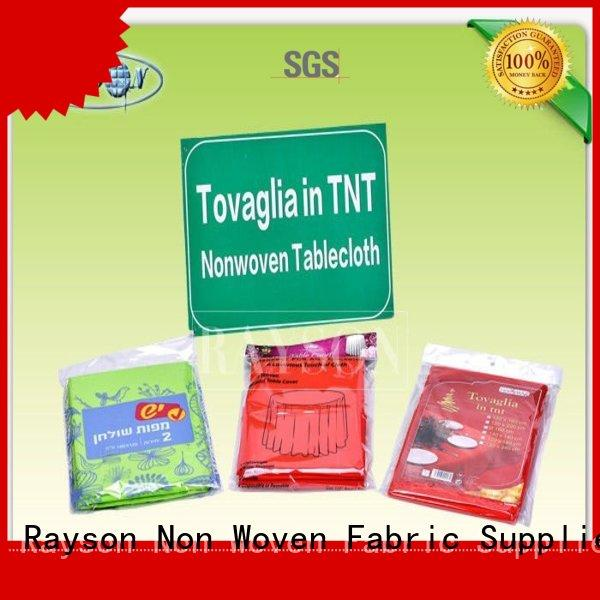 Rayson Non Woven Fabric pre - cuted certification for restaurants