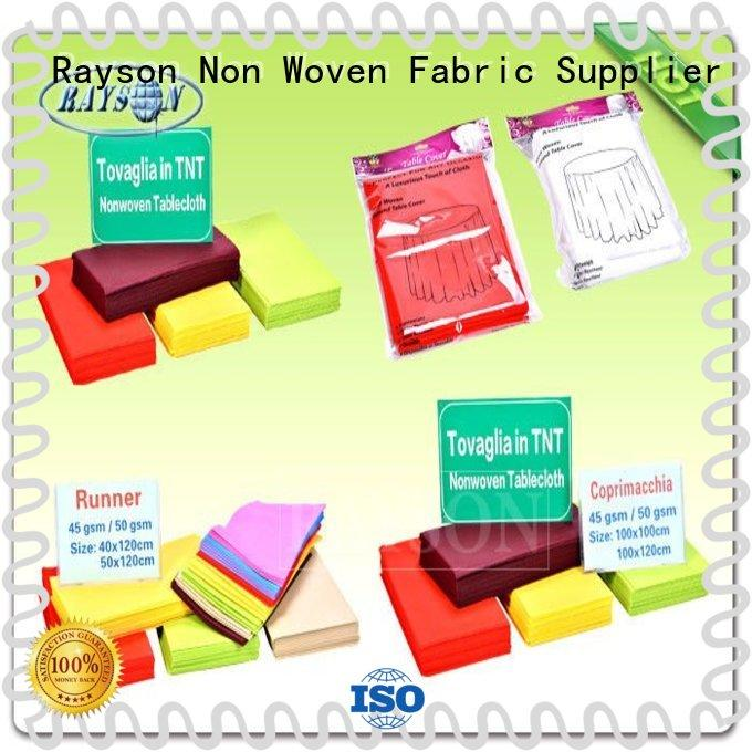 Anti - bacterial / Anti - chemical 60gram Printable Non Woven Tablecloth in Different Colors