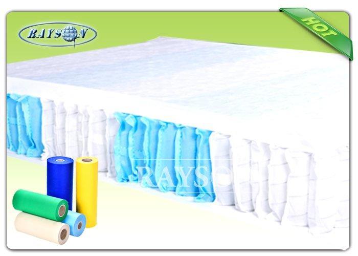 70Gr / 75Gr Soft High Strength PP Spunbond Non Woven Fabric For Sofa Packing / Pocket Spring Cover