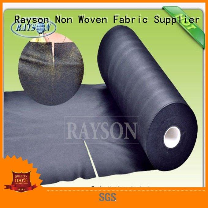 Rayson Non Woven Fabric high quality wide weed control fabric woven for root control bags