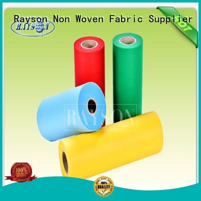 Wholesale temperature us pp spunbond nonwoven fabric Rayson Non Woven Fabric Brand
