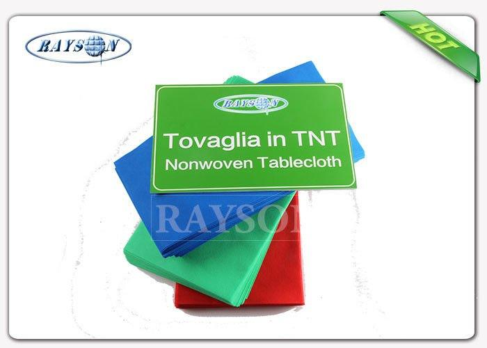 Oeko-Tex Certification Approved Pre-Cut 45 Gsm Various Colors Tnt Table Cloth With 25m Long-3