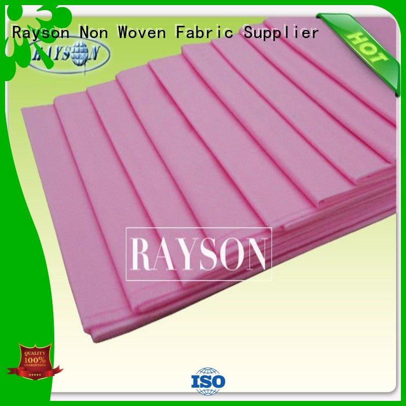 Rayson Non Woven Fabric Brand waterproof garden economical disposable bed sheets online 34g