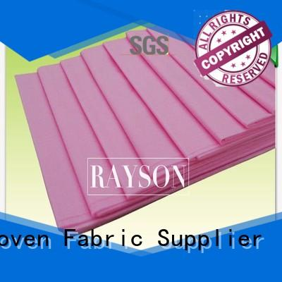 Rayson Non Woven Fabric Brand table 8mmx8mm custom black non woven fabric