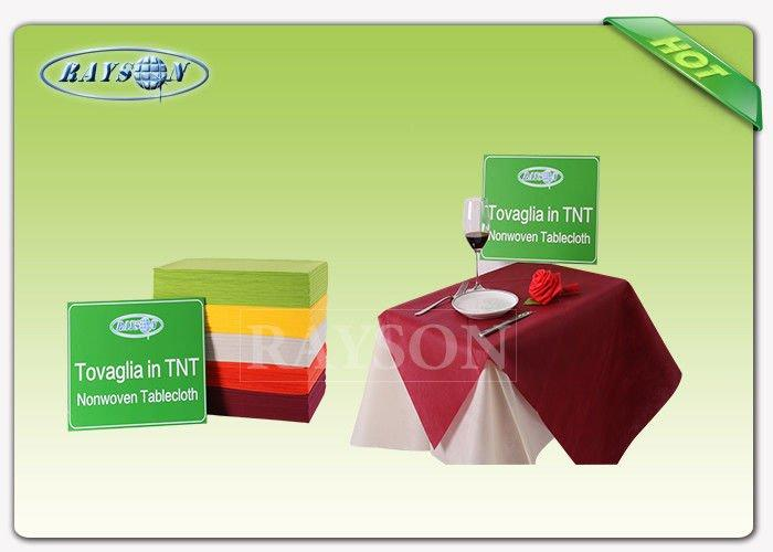 Fancy 45g - 70gsm Round Heat Resistant Colorful Disposable Table Cloth For Dining Used-2
