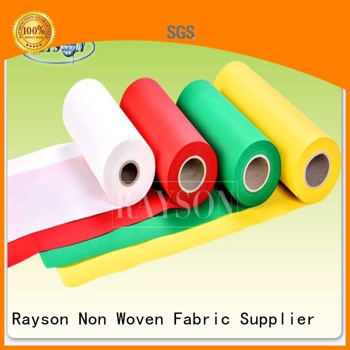 Rayson Non Woven Fabric Brand coming antibacteria soft cutting pp spunbond nonwoven fabric