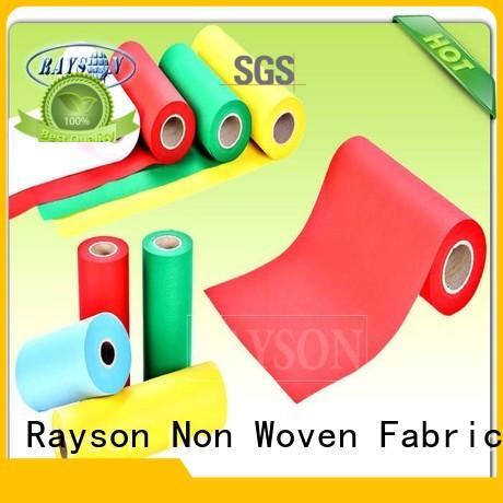 Wholesale 70gsm woven vs nonwoven fabric drape Rayson Non Woven Fabric Brand
