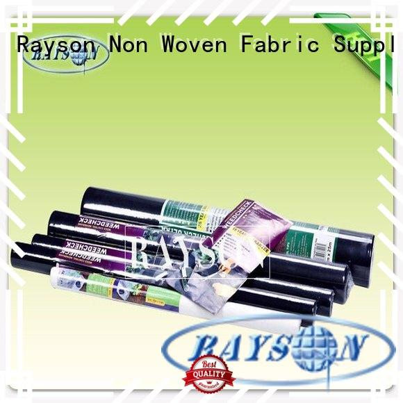 Rayson Non Woven Fabric black biodegradable landscape fabric manufacturer for ground cover