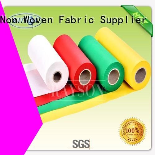 Quality Rayson Non Woven Fabric Brand woven vs nonwoven fabric shining hygiene
