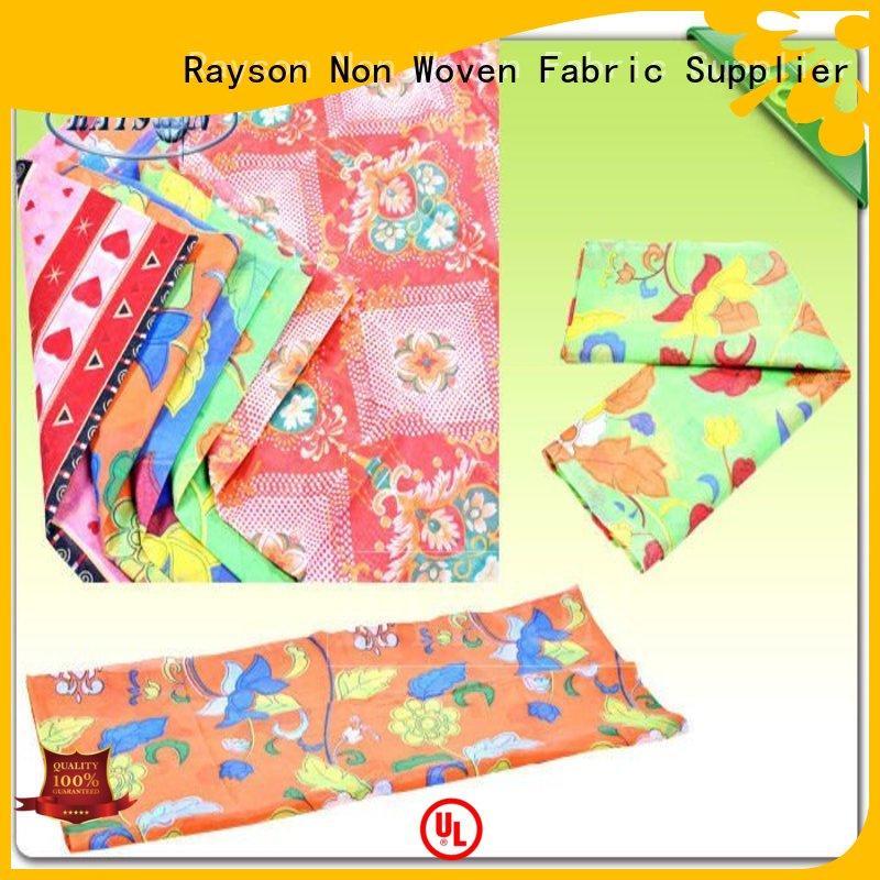 resist gram feeling Rayson Non Woven Fabric Brand woven print manufacture