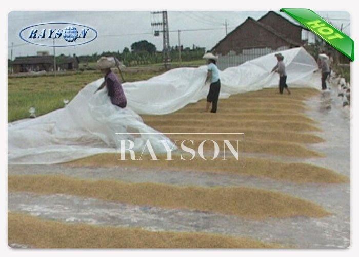 White Non Woven Geotextile Fabric Water Permeable Landscape Fabric