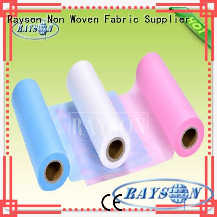 Rayson Non Woven Fabric 190cm silk bed sheets india Supply for hospital use