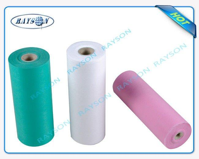 Function Antibacterial PE Coated Plastic Disposable Non Woven Bed Sheets
