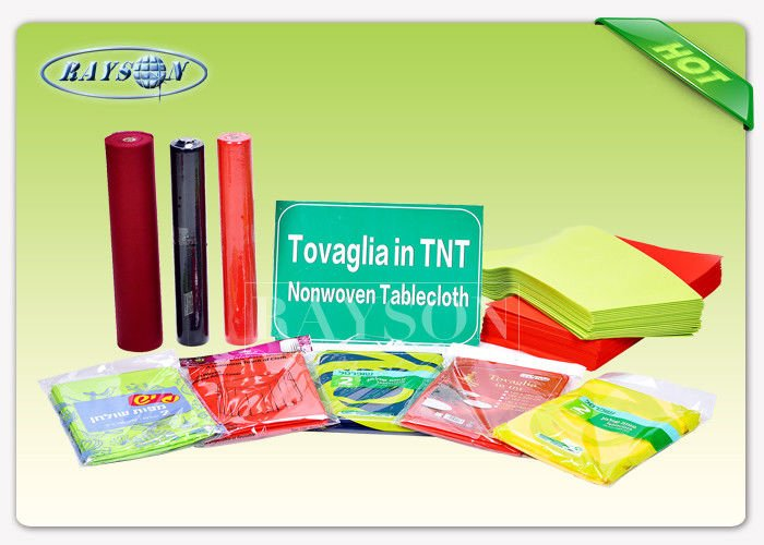 Spunbond Process Disposable Printed Table Cloth In TNT Populared For Hotel / Party