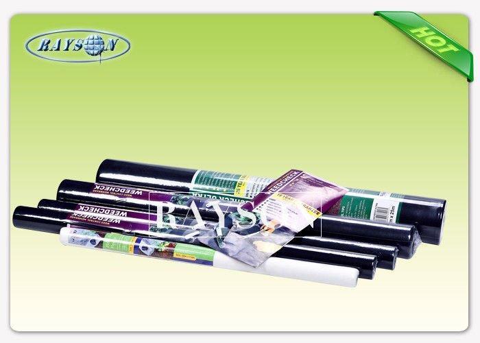 100 Polypropylene Fabric Non Woven GeotextileFabric Black / White 20G-50G
