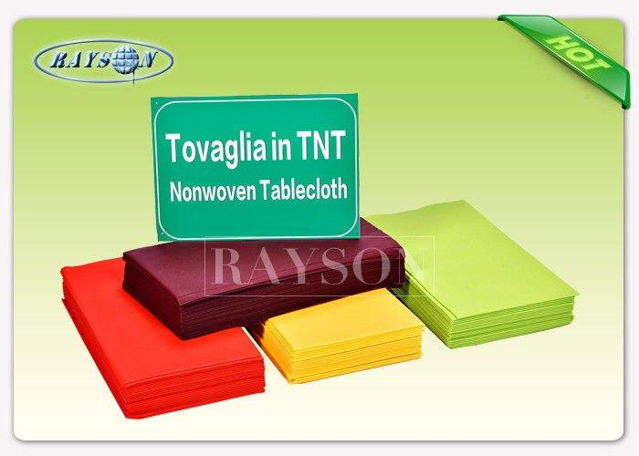 45gsm Round Non Woven Materials TNT Tablecloth With 25 Meter Long