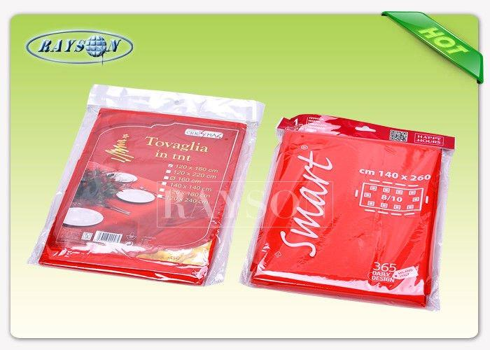 Shining Red Color Non Woven Tablecloth In Size 140CMX140CM For Party