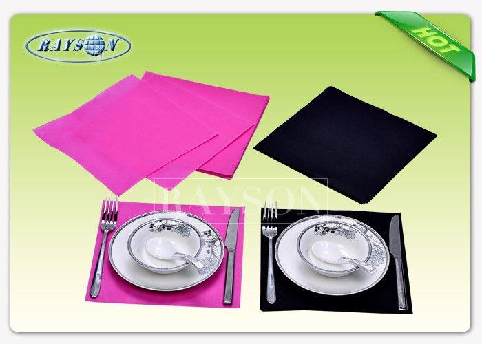 Full Color Range Non Woven Tablecloth Size 100CMX100CM Square For Restaurant