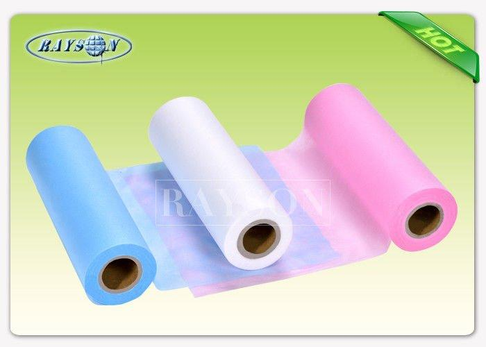 Waterproof Hospital Bedsheet SS / SMS Non Woven Medical Fabric for Europe Diaper Market