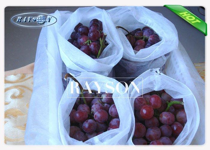 PP Spunbond White Fruit Protection Bag Anti--Aging Non Woven 20-50gsm