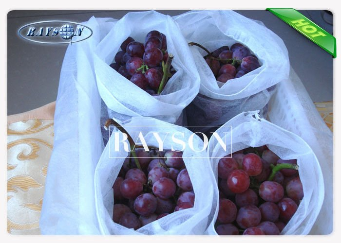 Heat Sealing Drawstring Spunbond Fruit Protection Bag Tear Resistant for Plant Growing