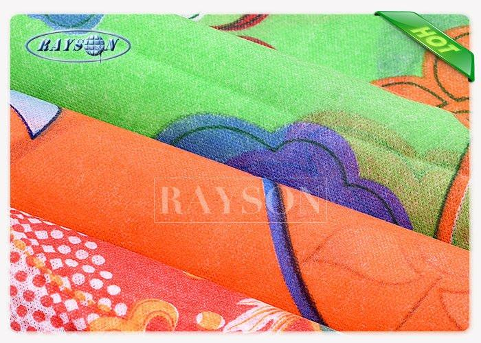 Full Color Printed PP Spunbond Waterproof Non woven Fabric In Hight Tension Strength For Bedding Cover