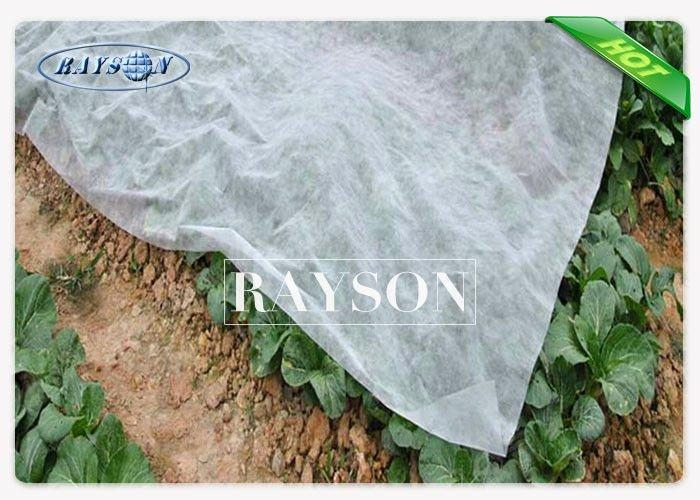 White Color 30gr Non Woven Landscape Fabric 30gsm For Fleece Tunnel