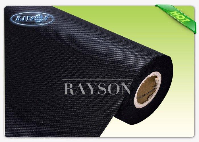 Harmless / Innocuous Non Woven Landscape Fabric 100% New Material Black Landscape Cloth